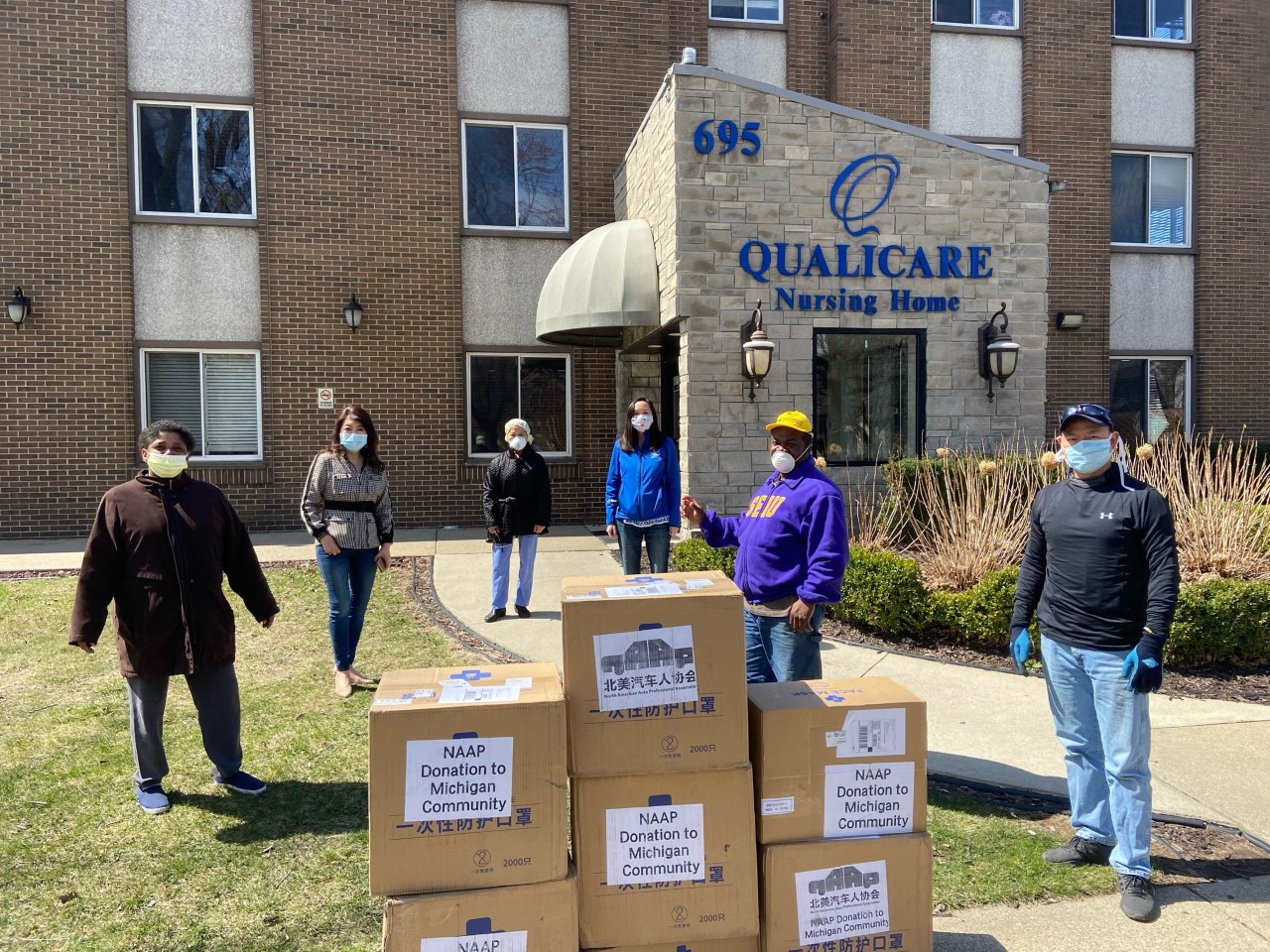 Michigan Chinese American Coalition donates face masks to help protect frontline hospital workers as COVID-19 spreads